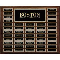 Genuine Walnut 48-Plt Magnetic Pearl or Blue Border Plaque  with Easy Perpetual Plt Release Program