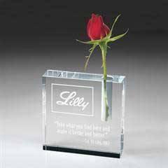 Clear Crystal Bud Vase