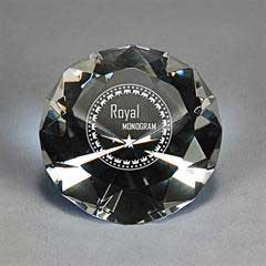 Full-Cut Glass Gemstone (Includes Silver Color-Fill)