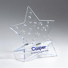 Star Acrylic Phone Holder with Star Cut-Outs