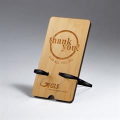 Rectangle Alder Wood Phone Holder