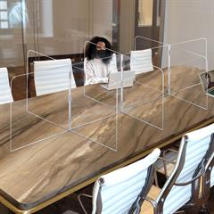 Large Interlock 10 Panel Tabletop Partition