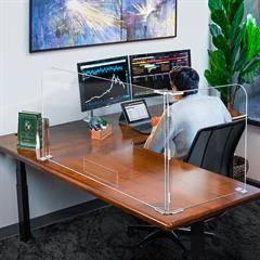 Office 2 Panel Desktop Partition Safety Barrier