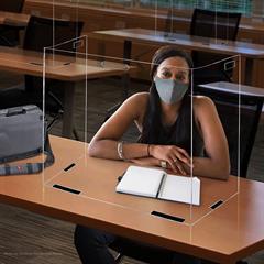 Large Foldable Portable Tabletop PETG Barrier BULK PRICING