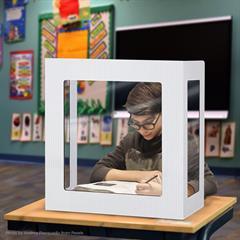 Coroplast 3 Window Panel Student Barrier