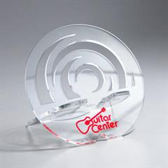 Circle Acrylic Phone Holder with Spiro-cut Design