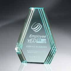 Jade Diamond Carved Desk Award
