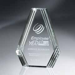 Clear Diamond Carved Lucite Desk Award