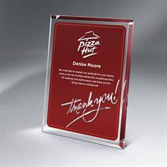 Lucite Thank You Plaque with Hanger