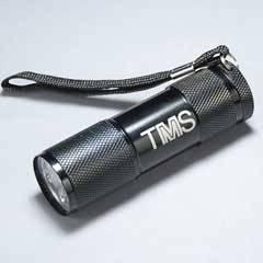 Black 9 LED Lasered Flashlight with Strap