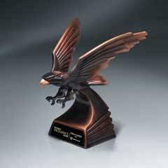 Modern Bronze Finish Eagle in Flight - Large