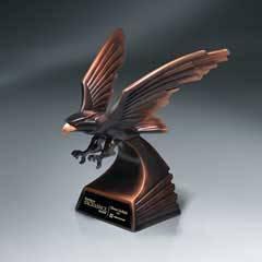 Modern Bronze Finish Eagle in Flight - Medium