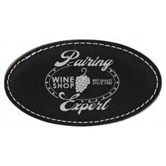 Leatherette Oval Name Badge With Magnet